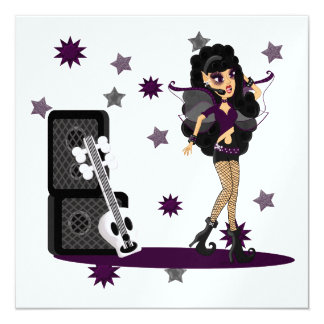 Gothic Faerie with Skull Guitar Card