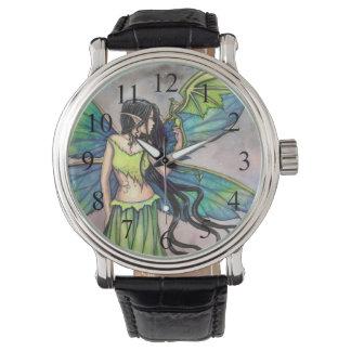 Gothic Fairy and Dragon Myscial Fantasy Art Watch