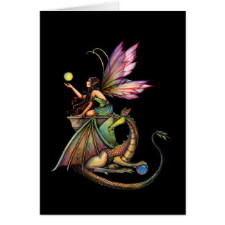 Gothic Fairy Dragon Card by Molly Harrison