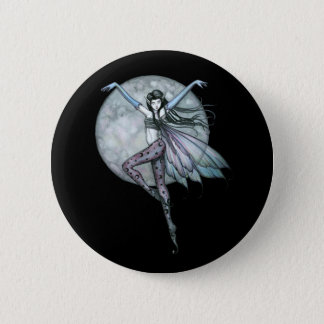 Gothic Fairy Pin, Button Full Moon Fairy