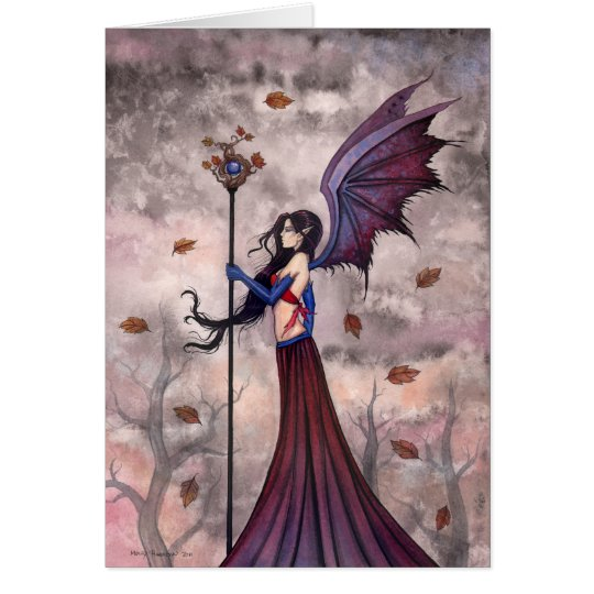 Gothic Fairy Vampire Greeting Card