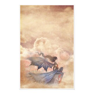Gothic Fairy Vampire in Clouds Stationary Stationery