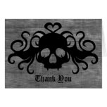 Gothic fanged vampire skull Thank You Note Card