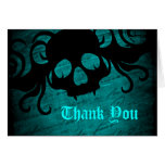 Gothic fantasy skull Thank You Note Card