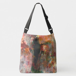 Gothic Figurative Painting, Abstract Landscape Art Crossbody Bag