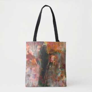 Gothic Figurative Painting, Abstract Landscape Art Tote Bag