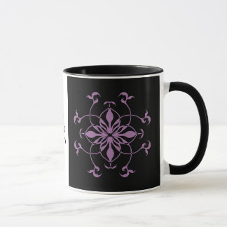 Gothic flower purple and black mug