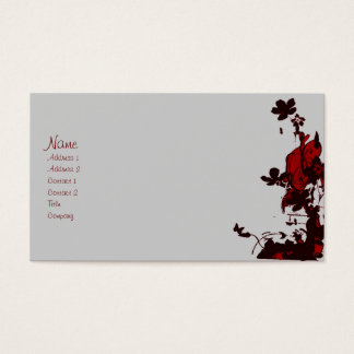 gothic flowers profile cards