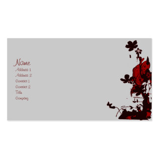 gothic flowers profile cards business card