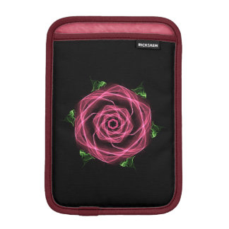 Gothic Fractal Rose iPad Mini Sleeves