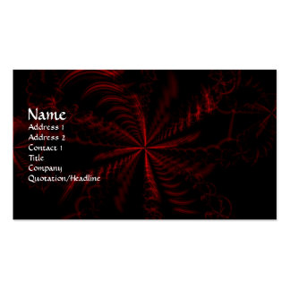 Gothic Fractals Blood Fall Business Card