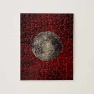 Gothic Full Moon with Haunting Trees Puzzle
