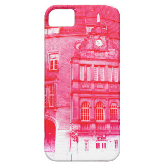 gothic german building digital effect red tint iPhone 5 case