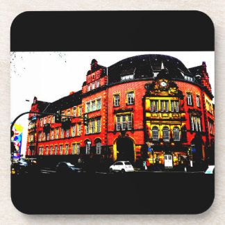 gothic german building mystic view coasters