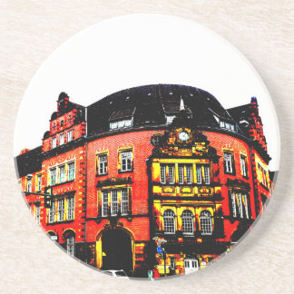gothic german building mystic view drink coasters