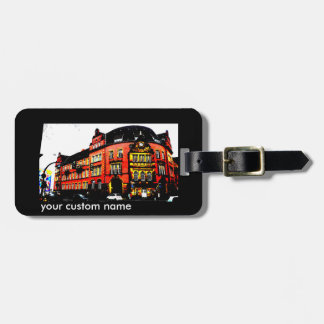 gothic german building mystic view luggage tag