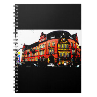 gothic german building mystic view notebook