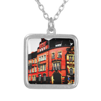 gothic german building mystic view silver plated necklace