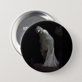 Gothic ghost button badge
