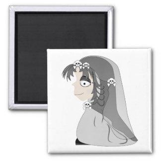 Gothic Ghost Girl Fridge Magnet