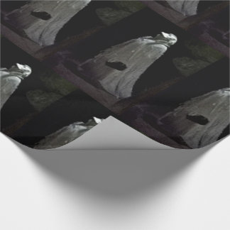 Gothic ghostly ghoul wrapping paper
