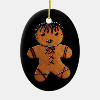 Gothic Gingerbread Cookie Ceramic Ornament