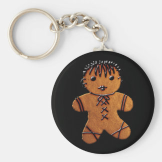 Gothic Gingerbread Cookie Key Ring