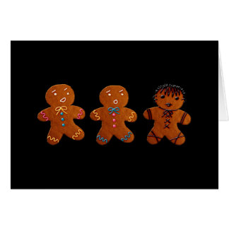 Gothic Gingerbread Man Greeting Card