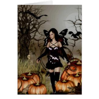 Gothic Girls Autumn Harvest greeting card