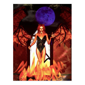 Gothic Girls Deal With The Devil Postcard