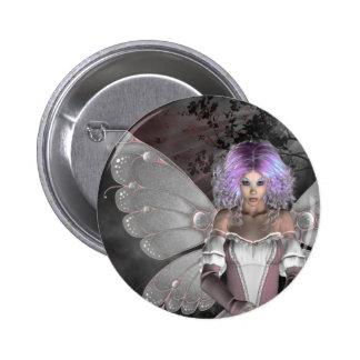 Gothic Girls Forest Fae Pinback Button