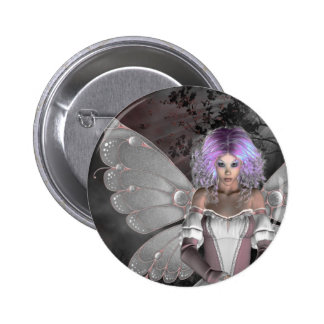Gothic Girls Forest Fae Pinback Button