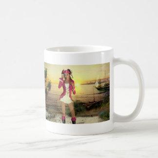 Gothic Girls Pirate Sundown Coffee Mugs