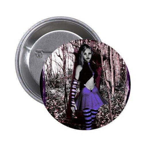 Gothic Girls Purple Button