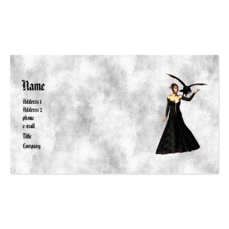 Gothic Girls : Red Witch Profile Card Business Cards