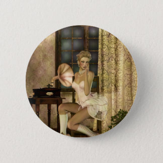 Gothic Girls Romantic Glow Steampunk fantasy 6 Cm Round Badge