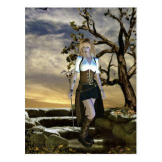 Gothic Girls The Hunter postcard