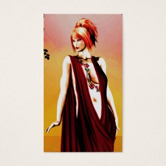 Gothic Girls The Red Dress business card