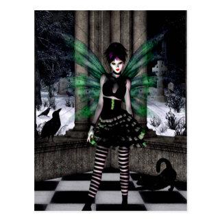 Gothic Girls Winter Games fantasy postcard