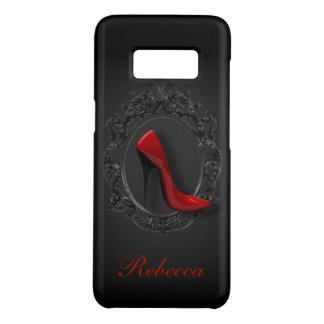 Gothic girly shoe lover fashionista red stilettos Case-Mate samsung galaxy s8 case