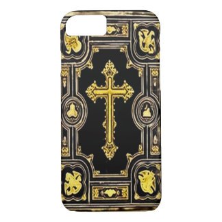 Gothic Gold Cross Decorative Artwork iPhone 7 Case