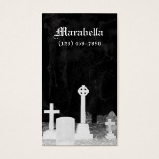 Gothic Graveyard Tombstones Business Card
