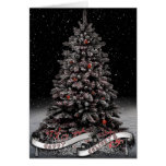 Gothic Greeting Cards- Winter Tree Banner Greeting Card
