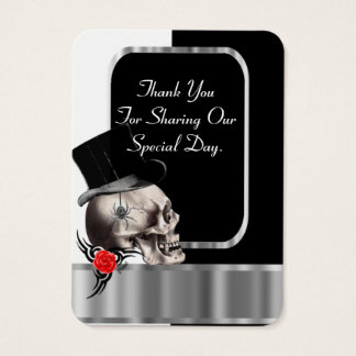 Gothic groom black wedding favor thank you tag