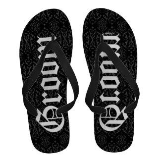 Gothic Groom Flip-Flops
