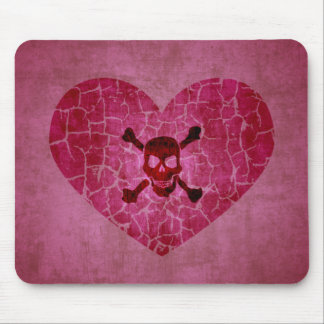 Gothic Grunge Broken Heart Mouse Pad