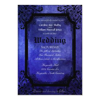 Gothic Grunge Filigree Wedding Invitation