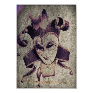 """gothic grunge renaissance  joker vintage 5"""" x 7"""" invitation card"""