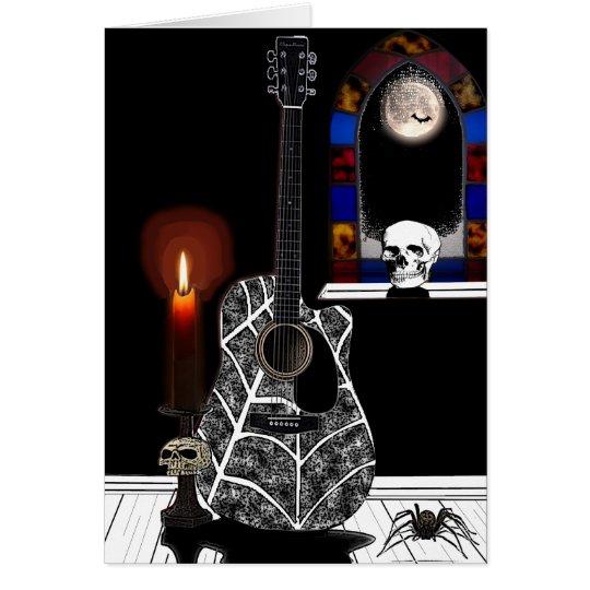 Gothic Guitar Card
