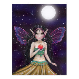 Gothic Gypsy Fairy Postcard by Molly Harrison